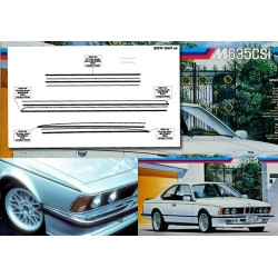 BMW M635CSI - stripes decal