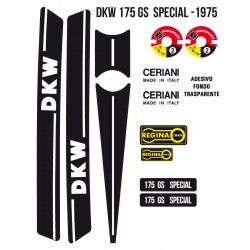 KIT ADESIVI DKW 175 gs SPECIAL 1975 - serie completa