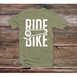 TSHIRT RIDE BIKE - Military Green