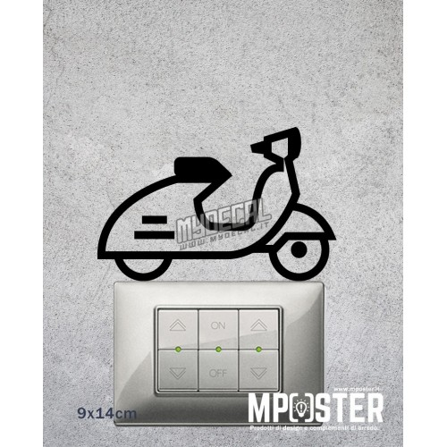 Wall Sticker Vespa 9x14cm