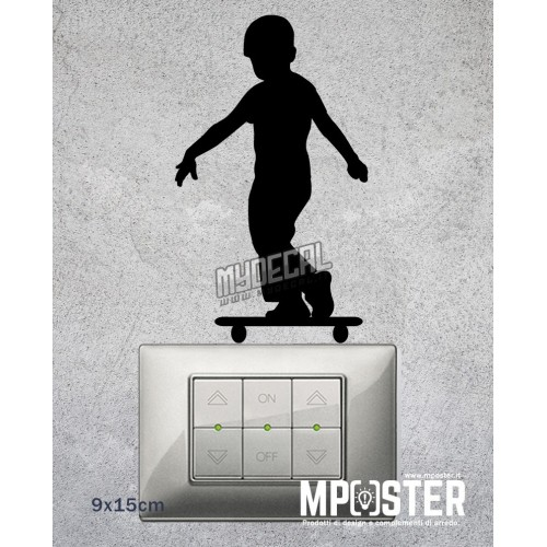 Wall Sticker Skater 9x15cm