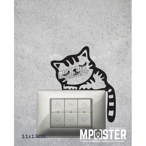 Wall Sticker Gattino 11x13cm