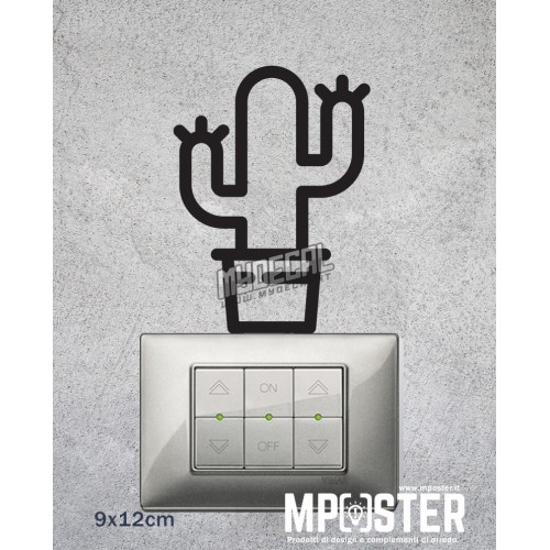 Wall Sticker Cactus 9x12cm