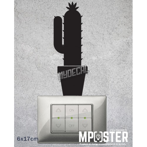 Wall Sticker Cactus 6x17cm