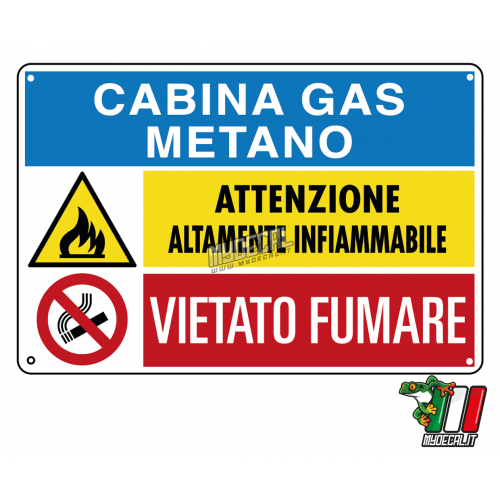 Cabina gas metano 300x200mm